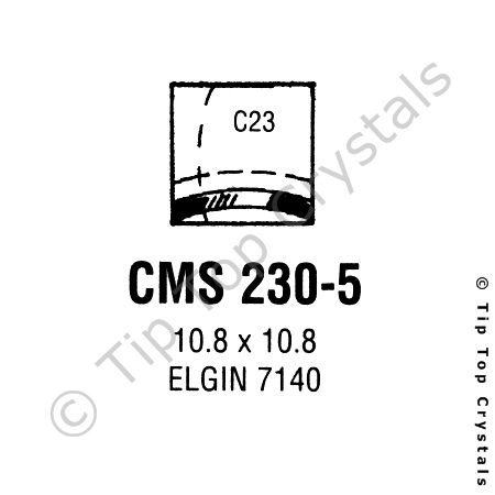 GS CMS230-5 Watch Crystal