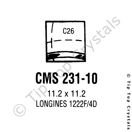 GS CMS231-10 Watch Crystal