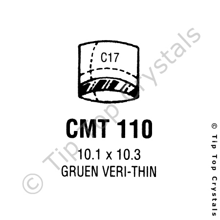 GS CMT110 Watch Crystal