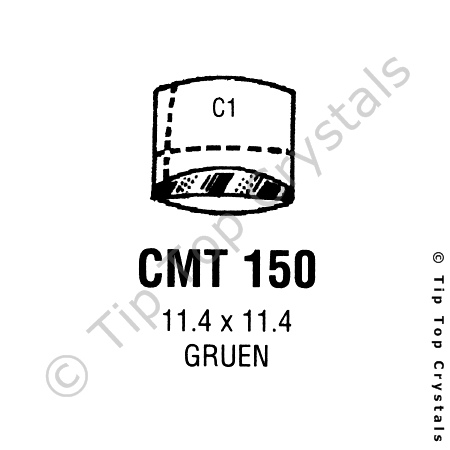 GS CMT150 Watch Crystal