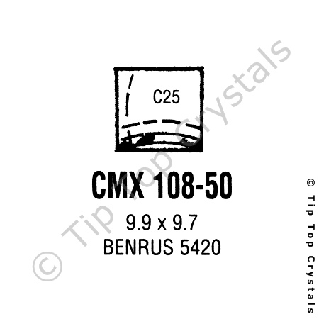 GS CMX108-50 Watch Crystal