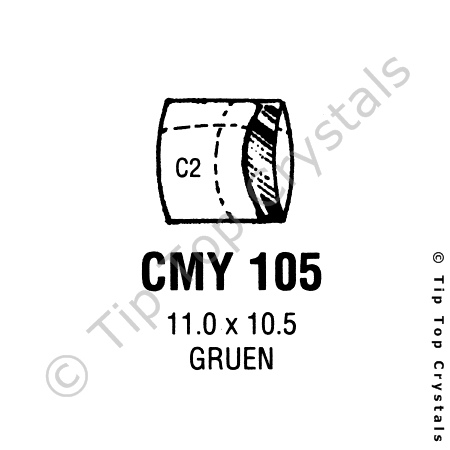 GS CMY105 Watch Crystal