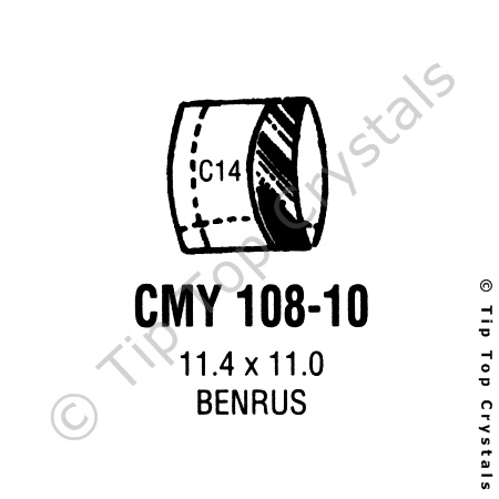 GS CMY108-10 Watch Crystal