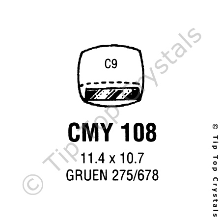 GS CMY108 Watch Crystal