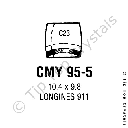 GS CMY95-5 Watch Crystal