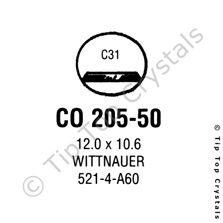 GS CO205-50 Watch Crystal