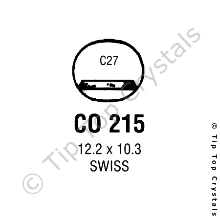 GS CO215 Watch Crystal