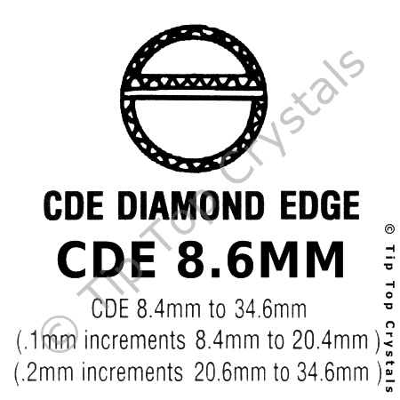 GS CDE 8.6mm Watch Crystal