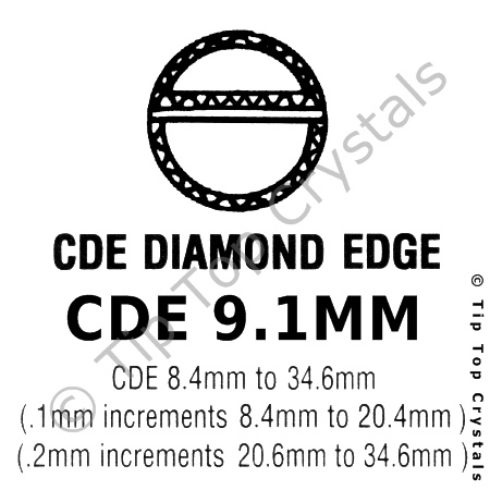 GS CDE 9.1mm Watch Crystal