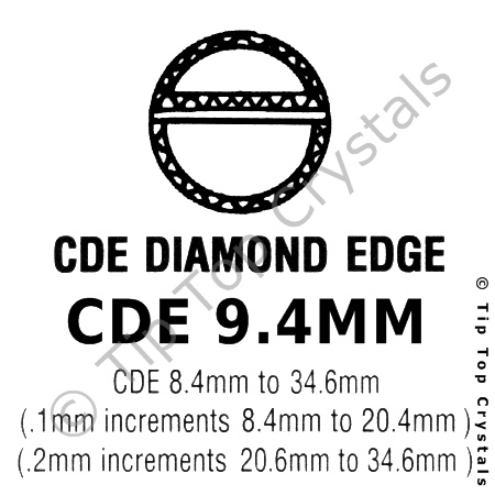 GS CDE 9.4mm Watch Crystal