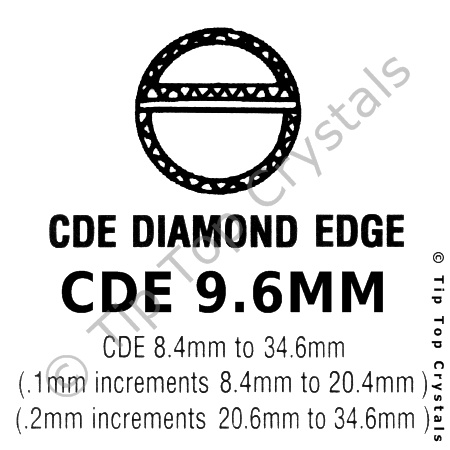 GS CDE 9.6mm Watch Crystal